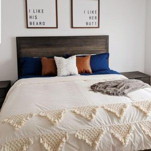 Queen Size Ivory Lattice Bedding Duvet Cover 86x90